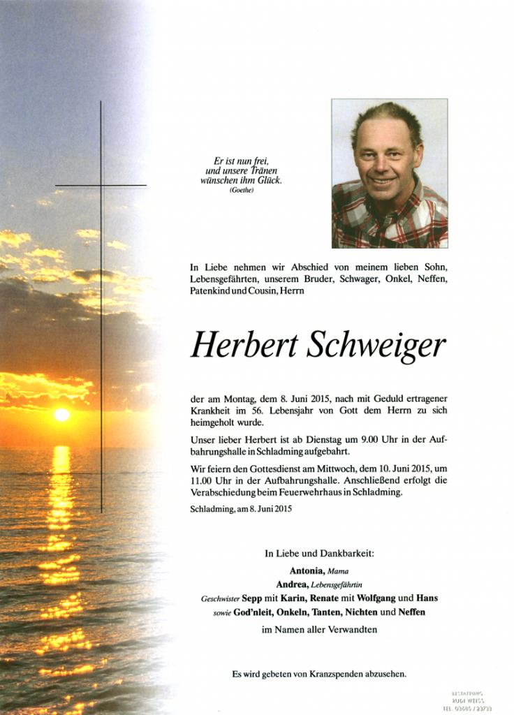 15 Herbert Schweiger
