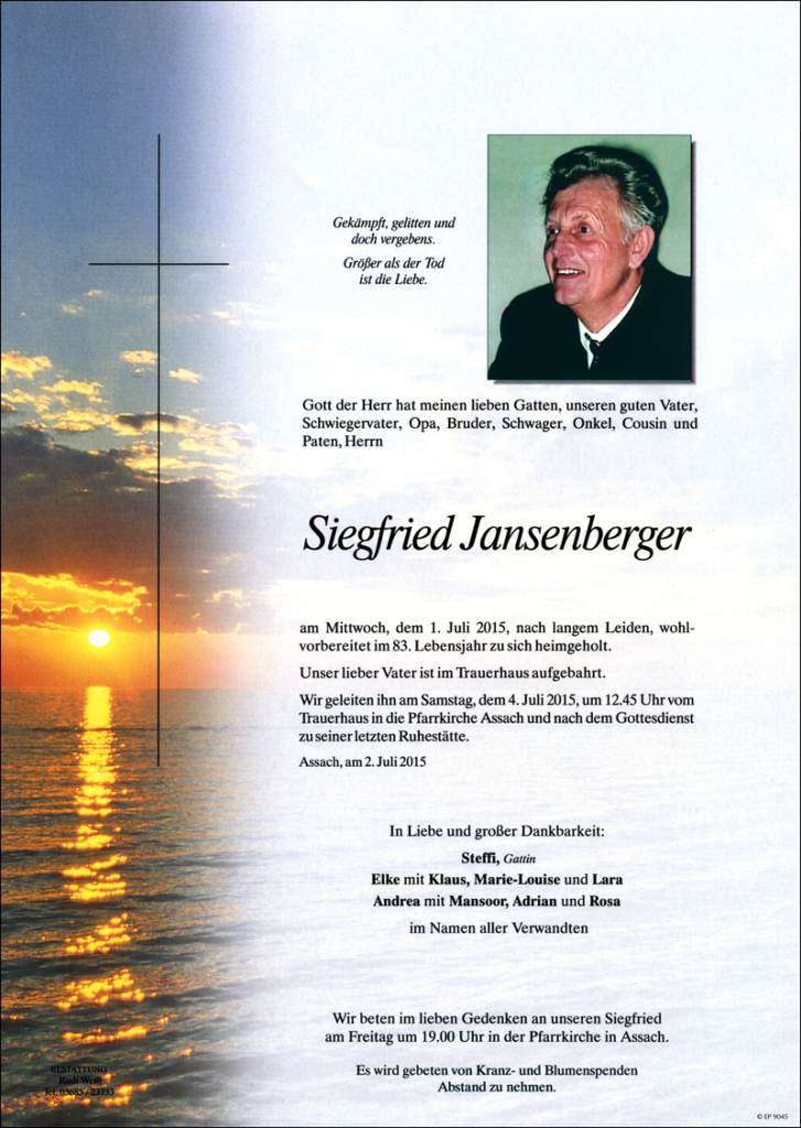 16 Siegfried Jansenberger