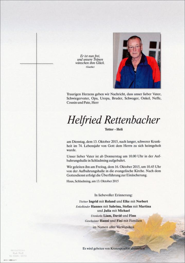 25 Helfried Rettenbacher