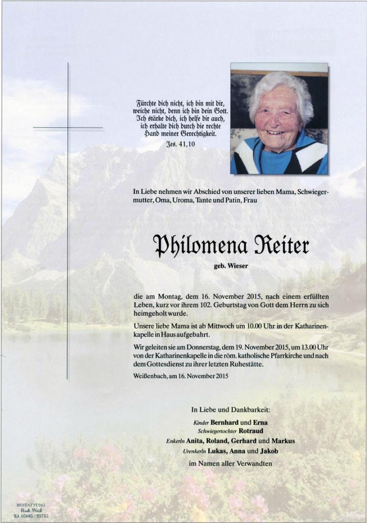 27 Philomena Reiter