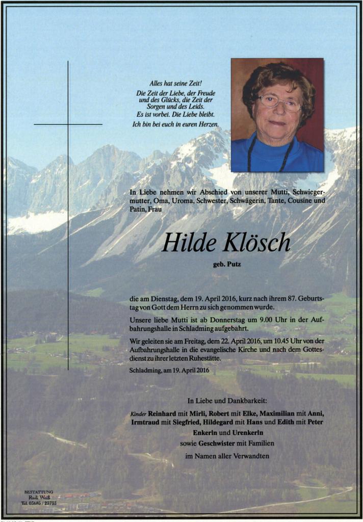14 Hilde Klösch