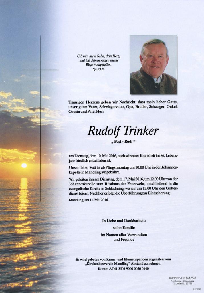 16 Rudolf Trinker
