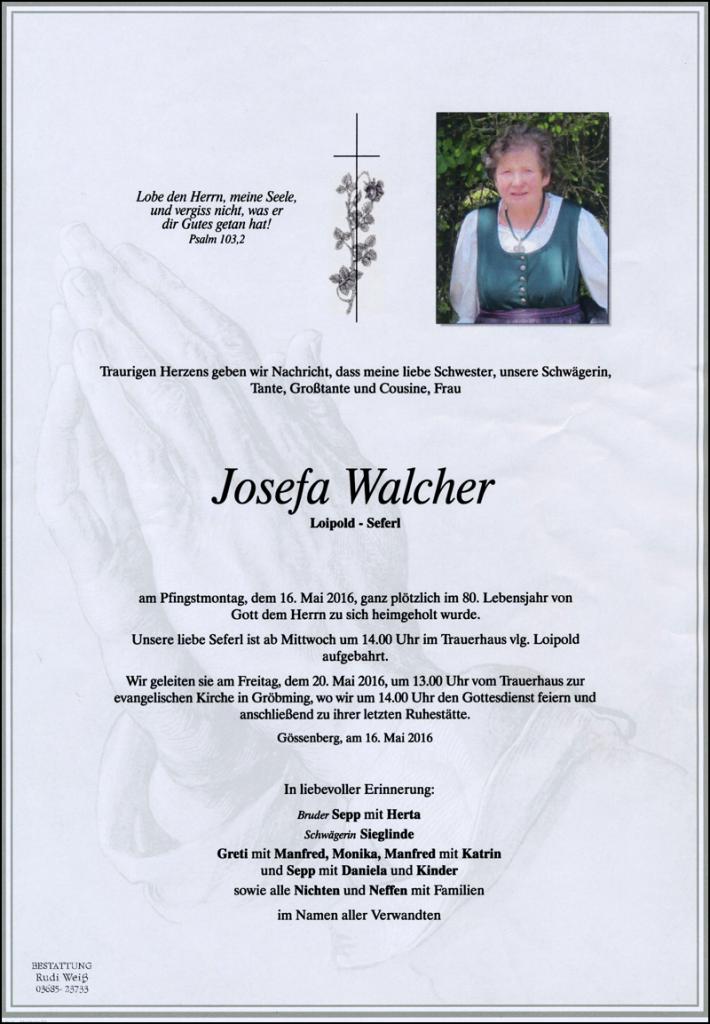 18 Josefa Walcher